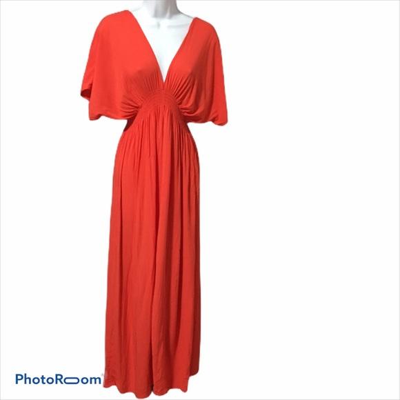 Michael Kors Orange Maxi Dress